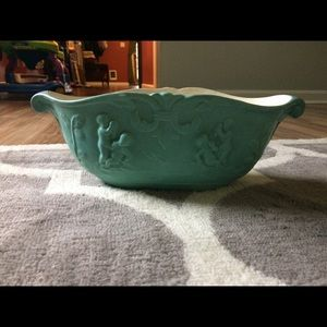 Antique console pottery bowl, excellent condition